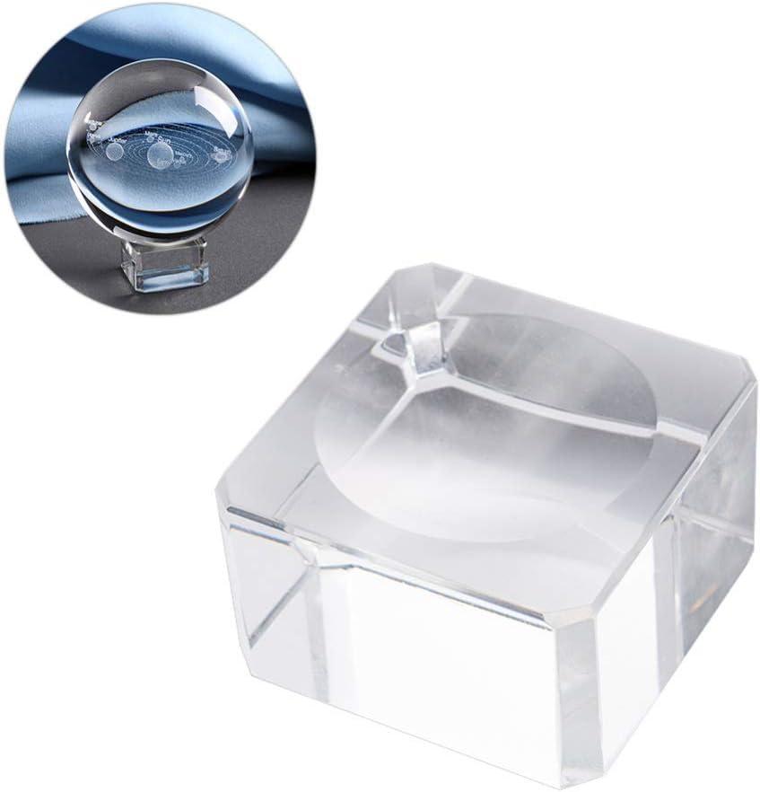 IMIKEYA 3Pcs Base a Sfera in Cristallo Supporto per Display a Sfera in Vetro Supporto per Sfera in Cristallo Supporto per Archiviazione Trasparente a Sfera Rotonda per Festa in Ufficio a Casa