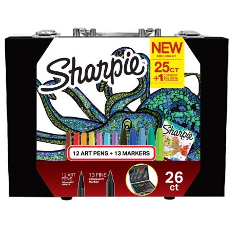 Sharpie New Coloring Kit with 12 Art Pens + 13 Markers+1 Connect the Dots Coloring - Bridgewater Mall