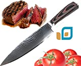 Best Seller Chef Knife Professional Damascus, stainless steel, premium, 67 layers handmade 8 inch Chef's damask knife, steel base VG10 Super German, by Casa Essenziale