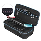 iAmer Nintendo Switch Case, Carrying Case for Nintendo Switch Console/AC Charger(UK or EU)/Joy-Con