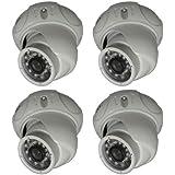 CIB CUC7603W-4 Four 800TVL Indoor/Outdoor EFFIO CCD Dome Day Night Security Camera