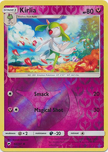 Kirlia - 92/147 - Uncommon - Reverse Holo - Sun & Moon: Burning Shadows