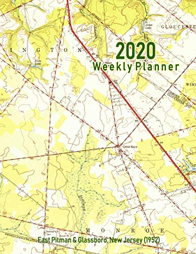 2020 Weekly Planner: East Pitman & Glassboro, New Jersey (1952): Vintage Topo Map ()