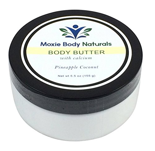 Price comparison product image Natural Shea Butter Balm Lotion with Calcium and Vitamin A (Retinol), PINEAPPLE COCONUT. No Parabens, Phthalates, Dyes, Gluten, or Artificial Preservatives. Made in USA, Cruelty-Free. 5.5 Oz