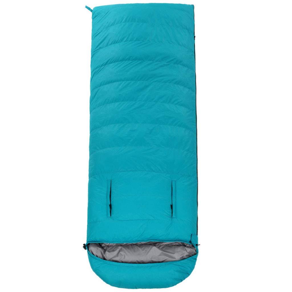 Sky bleu 2.5kg DGB Enveloppe Sac De Couchage en Plein Air Adulte Léger en Duvet d'oie Chaud Déjeuner Intérieur Chaud Camping Atteindre Peut Être Cousu