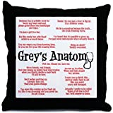 CafePress Grey's Anatomy Quotes Throw Pillow - Standard Multi-color