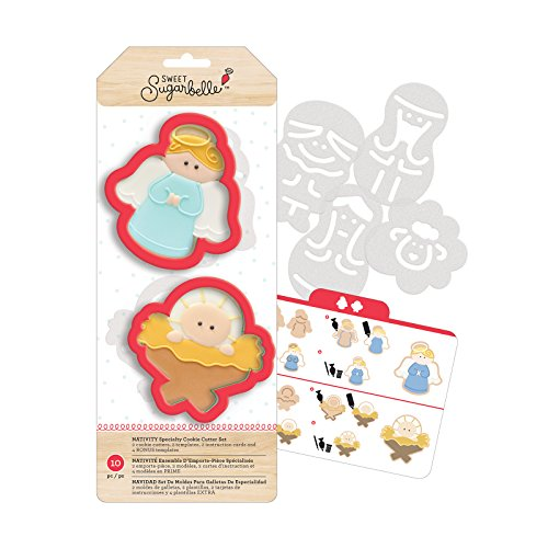 American Crafts 374571 10 Piece Sweet Sugarbelle Specialty Cookie Cutters Nativity