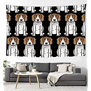 YongColer Colorful Tapestry, American English Coonhound Cartoon Art Wall Decor Hanging for Living Room Kitchen Outdoor Dorm Bedroom 1
