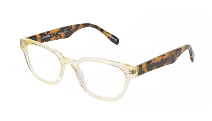 bec91547057 Chambers Street - Rounded Square Trendy Fashion Reading Glasses for Men and  Women - Antique Crystal