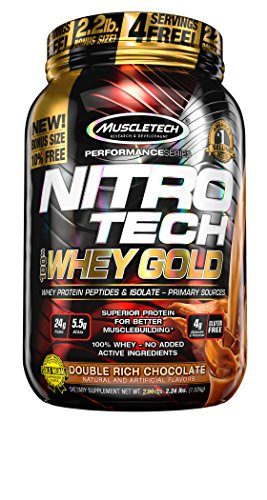 MuscleTech Nitro-Tech 100% Whey Gold, Chocolate, 2.5 Pounds