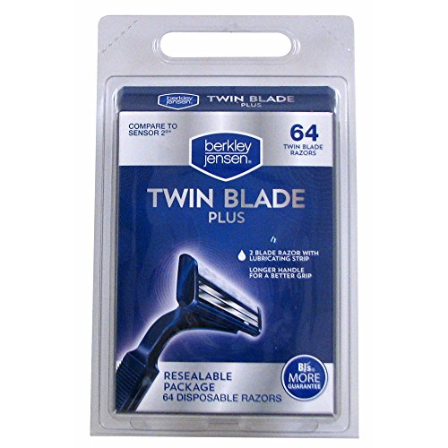 Berkley Jensen Twin Blade Plus Disposable Razor, 64 ct. (pack of 6) by Berkley Jensen