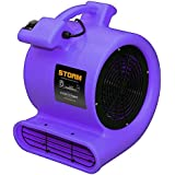 Contair STO2500PU STORM Floor Fan High Air Mover Carpet Dryer Blower, Purple