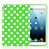 Minisuit Polka Dot Soft Rubberized Case Cover for iPad Mini 2012 Release (Green)