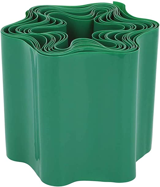 GOODGDN Delimitador de Jardín, Borde Delimitador Césped Ribete de Césped de Plástico Borde Flexible para Césped, Plástico, Verde, 15 x 900 cm: Amazon.es: Jardín