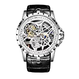 OBLVLO Open Work Design Mens Watches Skeleton Watch Automatic...