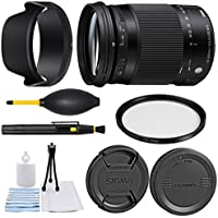 Sigma 18-300mm f/3.5-6.3 DC MACRO OS HSM Contemporary Lens for Canon EF + Essential Bundle Kit + 1 Year Warranty - International Version
