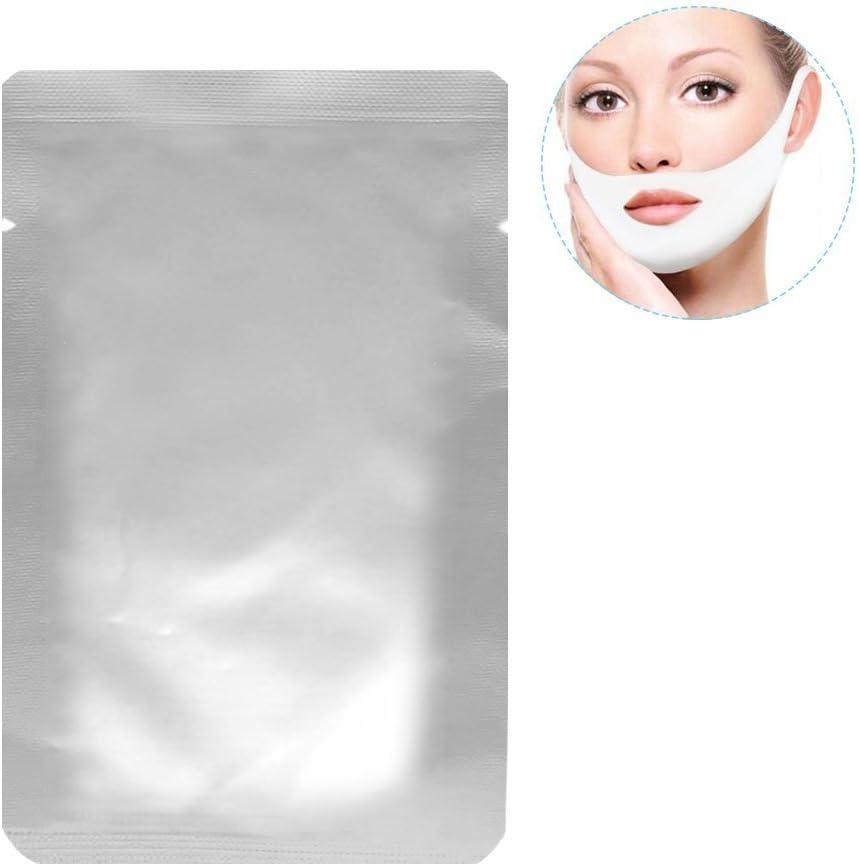 Almohadilla de gel facial V-Zone, paquete de 10 mascarillas hidratantes firmes de contorno en forma de v forma de barbilla y forma de barbilla