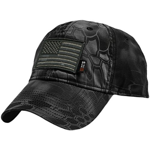 5.11 Kryptek Typhoon Tactical Cap & Patch Bundle - USA