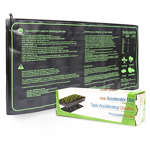 KORAM 10 x 20 inches Seedling Heat Mat Plant Warm Mat Waterproof Hydroponic Heating Pad for Indoor & Outdoor Seed Starter Germination Garden Clones Starter
