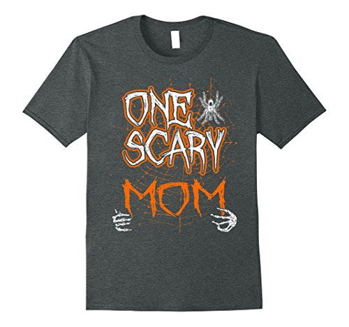 Mens One Scary Mom Family Halloween T-Shirt Large Dark (Mom And Daughter Matching Halloween Costumes)