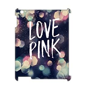 Custom New Case for Ipad 2,3,4 3D, Love Pink Phone Case - HL-509754