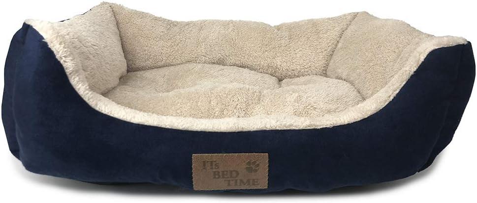 Plush large dog bed