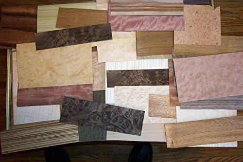 Exotic Wood Veneer (100 sq.ft. Mix Exotic & Common Wood Veneer 8 - 10 Different Types 2