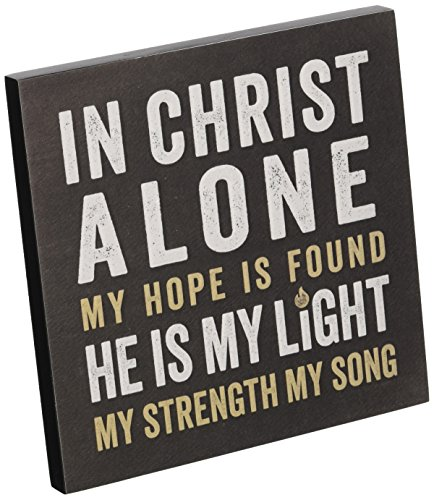 Wall Plaque - In Christ Alone -