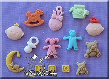 nursery 3d silicone cake decorating moulds ideal for decorating baby shower cupcakes or to celebrate
