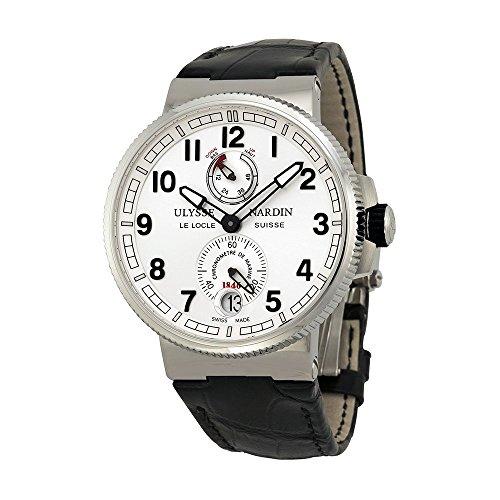 Ulysse Nardin Marine Chronometer Black Alligator Leather Mens Watch 1183-126-61 (Nardin Chronometer Marine Ulysse)