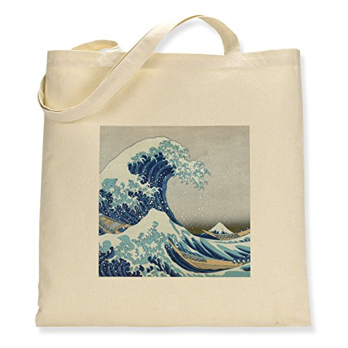 Great Tote Hokusai's Sided Bag The Canvas Single off Kanagawa Wave 50nUrzBn
