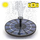 Solar Bird Fountain Pump with 800 mAh Battery Backup,Free Standing 2.4W Bird Bath Fountain Solar Powered Water Fountain Pump for Bird Bath Garden Pond Pool Outdoor