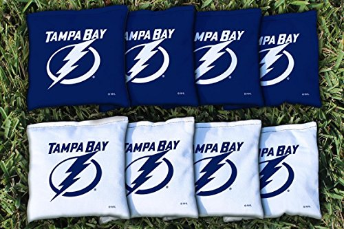 Victory Tailgate 8 Tampa Bay Lightning NHL Cornhole Game Bag Set (8 Bags Included, Corn-Filled)