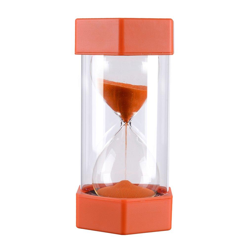 5 Minutes Plastic Sandglass Hourglass Sand Timer - Orange Precise Sand Clock