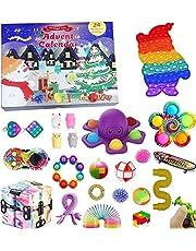 Fidget Advent Calendar, Advent Calendar 2021, Christmas Advent Calendar 2021,Toddler Advent Calendar Gift Sensory Calendars Fidget Toy Packs for Kids Girl Christmas Countdown Toys