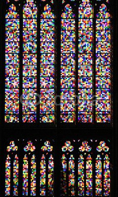 """Sehr Gut Poster-Bild 60 x 100 cm: """"Richter-Fenster im Kölner Dom"""", Bild auf  DR84"""
