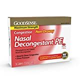 GoodSense Nasal Decongestant Phenylephrine HCl 10 mg Tablets, 36 Count