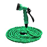 Magic Telescopic Pipe - Expandable Flexible Garden Hose with 7 Spray Pattern Garden Hose - Garden Watering Equipment - Three Colors Optional (25FT, Green)