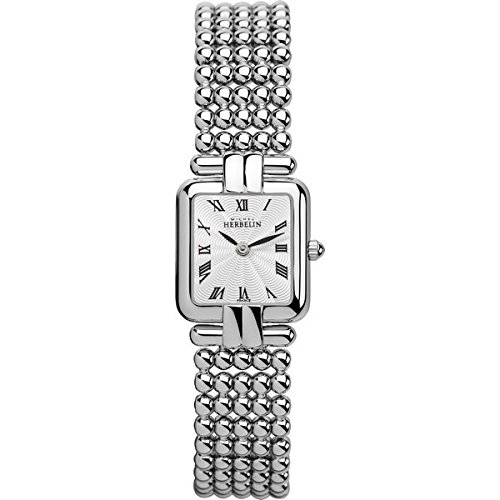 Lady's Watch - Michel Herbelin - Stainless Steel Band - W.R 3ATM - Sapphire Crystal - 17473/B08
