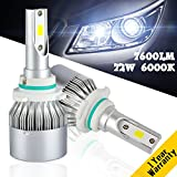 YUMSEEN LED Headlight 9006/HB4 12V/24V universal 72W Ultra Clear 6000k True White Light at 7,600Lm LEDs Lighting Worry-Free Ampper's 1 years warranty (9006/HB4)