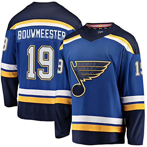 St. Louis Hockey Team #19 Men Embroidery Breakaway Royal Ice Hockey Jersey - XXL