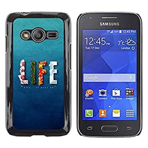 LECELL -- Funda protectora / Cubierta / Piel For Samsung Galaxy Ace 4 G313 SM-G313F -- LIFE design Message --