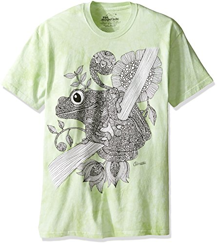 The Mountain Men's Big and Tall Colorwear Phileus Frog Adult Coloring T-Shirt, Green, 5XL - Big Frog T-shirts