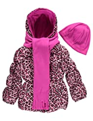 "Pink Platinum Little Girls' ""Vesper"" Insulated Jacket with Accessories"