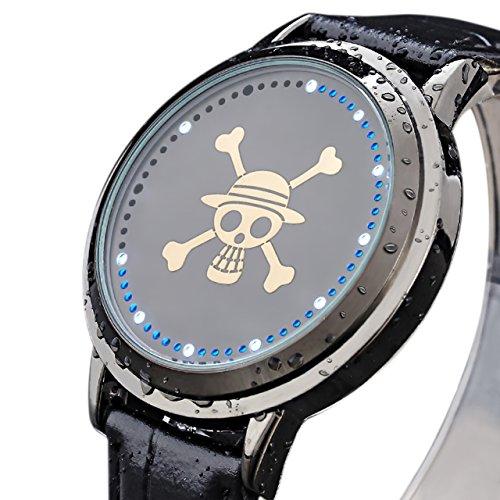 Xcoser One Anime Piece LED Watch Cool Anime Watch Black Style B Watch