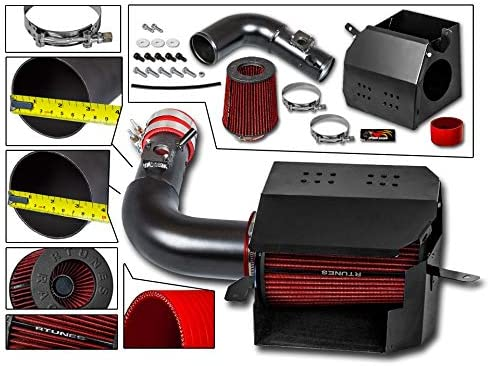 FOR 2013-2017 SCION FRS//SUBARU BRZ COLD AIR INTAKE KIT BLACK+FILTER+HEAT SHIELD