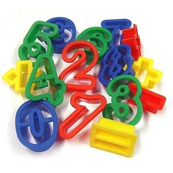 Moldes de Corte de Masilla de Números y Símbolos: Amazon.es: Juguetes y juegos