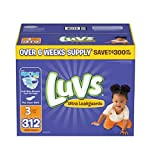 Health & Personal Care : Luvs Ultra Leakguards Diapers, Size 3, 312 Count