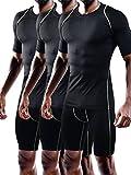 Best Moisture Wicking T Shirts - Neleus Men's Running Compression Shirts,5013,3 Pack,Black,XL,EU 2XL Review