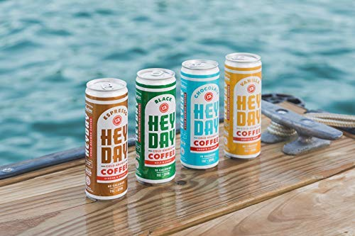 HEYDAY | Cold-Brew Coffee | Caramel | 11 Fl Oz (pack of 12) | Nitro Infused for Freshness | Fair Trade Certified | Non-GMO by HEYDAY (Image #6)